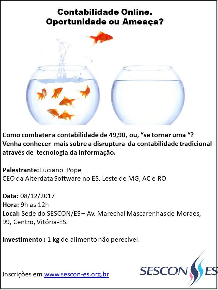 Palestra - Contabilidade Online, Oportunidade ou Ameaça ? @ SESCON ESPIRITO SANTO | Espírito Santo | Brasil